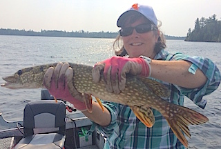 Northern Pike Fishing for the First Time at Fireside Lodge by Peggy