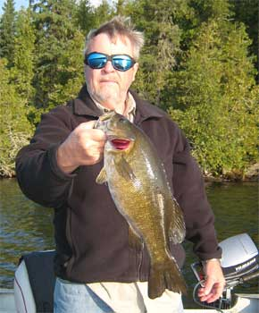 many trophy smallmouth bass at canada lodge