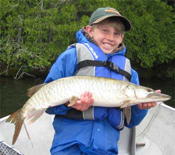 First Muskie Fishing at Fireside Lodge in Canada