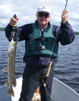 fly fishing northern pike ontario canada