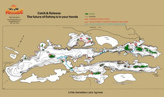 Ontario Canada fishing lakes map