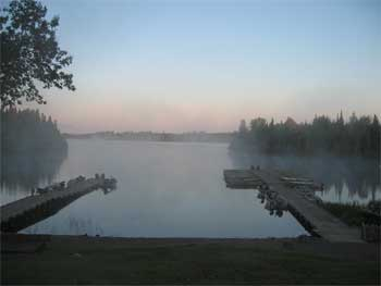 Ontario fishing dock near Sioux Lookout